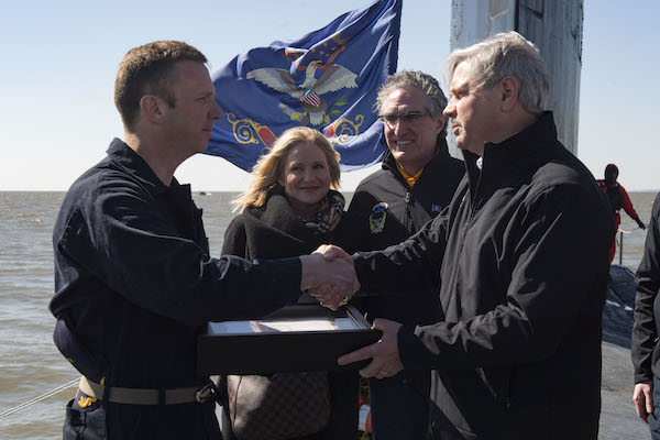 USS North Dakota Flag Presentation