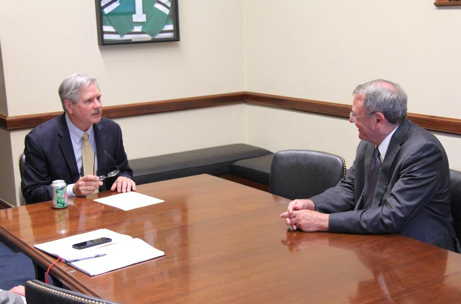 July 2018 - Senator Hoeven meets with James Hubbard, the nominee to be USDA's Undersecretary for Natural Resources & Environment.