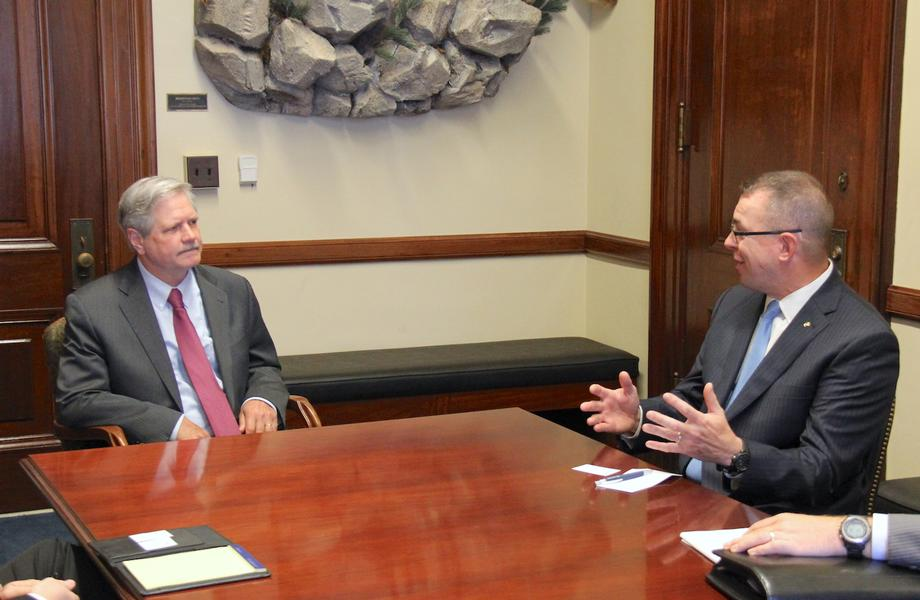 July 2018 - Senator Hoeven meets with Peter Gaynor to discuss his nomination to be Deputy Administrator of FEMA.