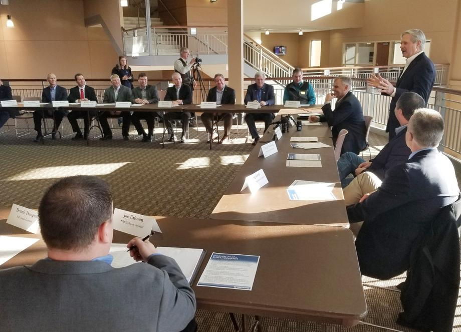 December 2019 - Senator Hoeven holds an agriculture roundtable in Fargo to discuss additional disaster aid he secured in FY20.