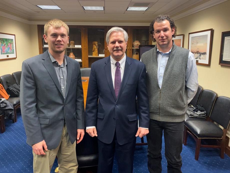 December 2019 - Senator Hoeven meeting with North Dakota Young Farmers.