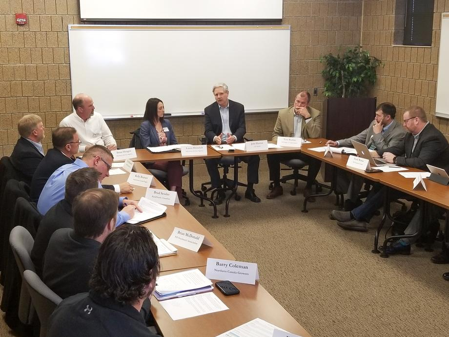 February 2020 - Senator Hoeven holds an agriculture roundtable in Fargo.