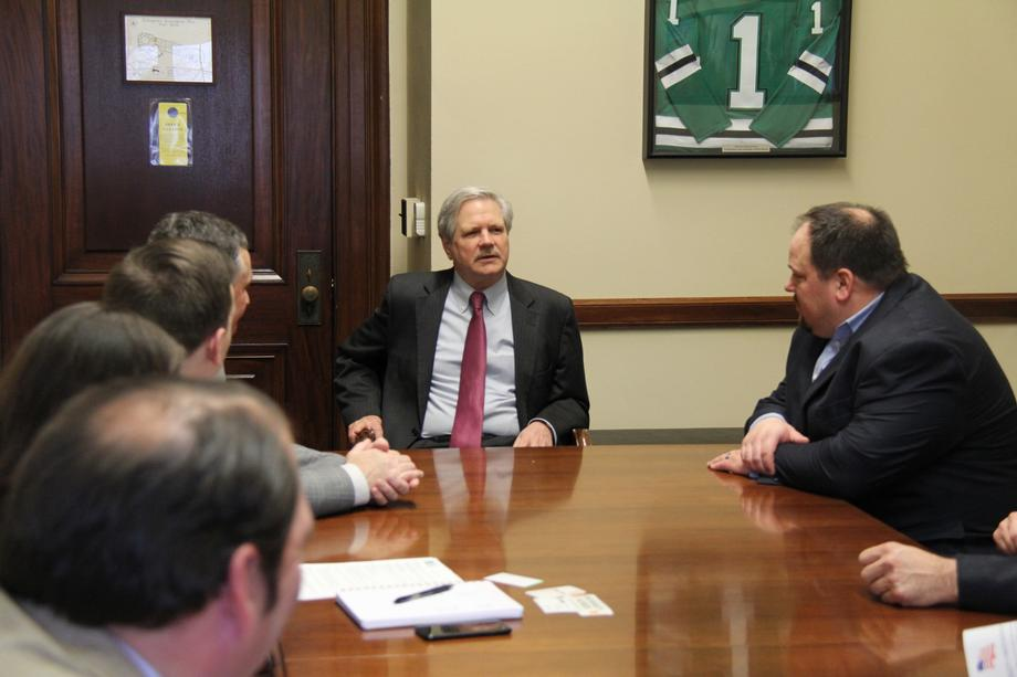 February 2020 - Senator Hoeven with the North Dakota Barley Council.