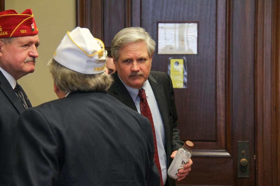 March 2020 - Senator Hoeven meets with North Dakota members of the American Legion.