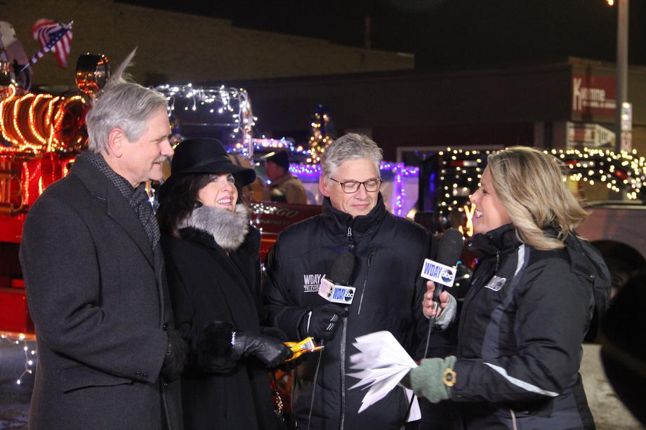 November 2018 - Senator Hoeven serves as grand marshal for the Faro Holiday Lights Parade.