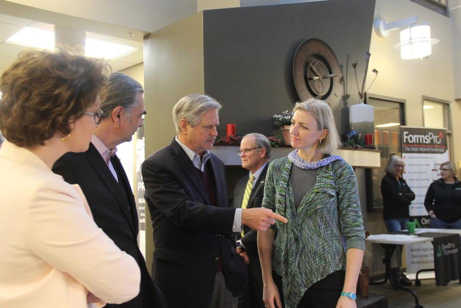 November 2018 - Senator Hoeven holds an intellectual property roundtable at NDSU with U.S. Patent and Trademark Office Director Andrei Iancu.