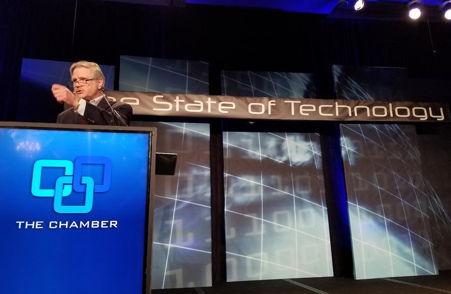 November 2018 - Senator Hoeven speaks at his 2018 State of Technology Conference.