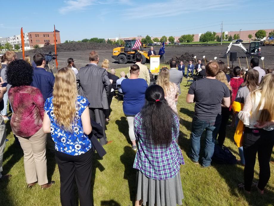 August 2019 - Senator Hoeven at Aldevron groundbreaking.