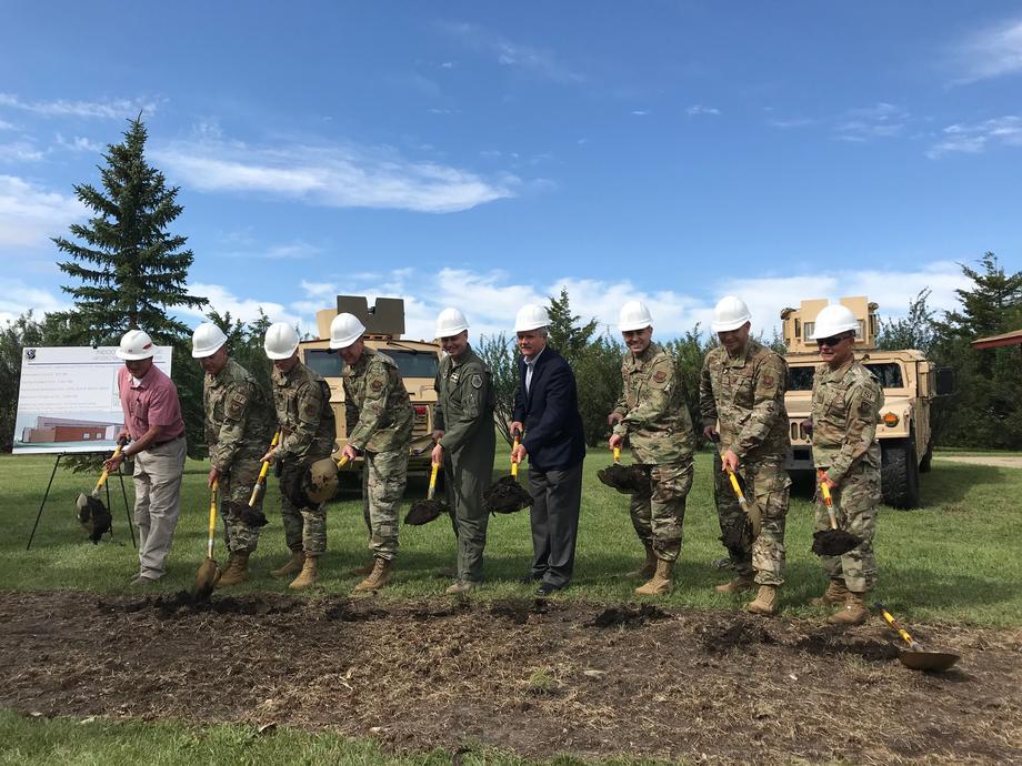 August 2019 - Senator Hoeven breaking ground at the MAFB Firing Range.
